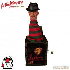 Mezco - Burst A Box - A Nightmare on Elm Street - Freddy Krueger - boite à musique Diable en boîte - 36cm