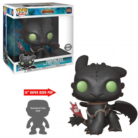 Funko Pop! 686 - Toothless - Crocmou - Supersized - Dragon - 25cm