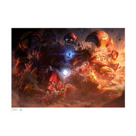 Marvel Art Print - Hulkbuster by Erwin Papa & Fabian Schlaga 46 x 61 cm - non encadrée