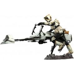 Hot Toys Star Wars Mandalorian Scout Trooper et speeder Bike TMS016