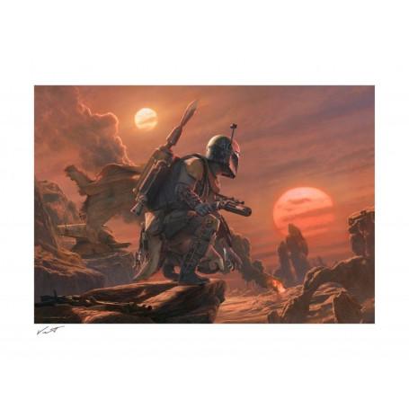 Starwars impression Art Print - Boba Fett: Dead or Alive - 46 x 61 cm