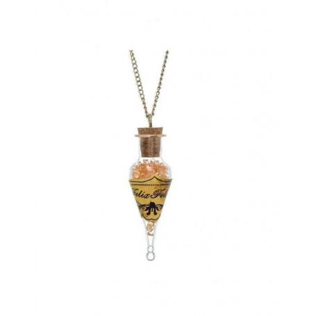 Harry Potter pendentif et collier plaqué argent Felix Felicis Bottle