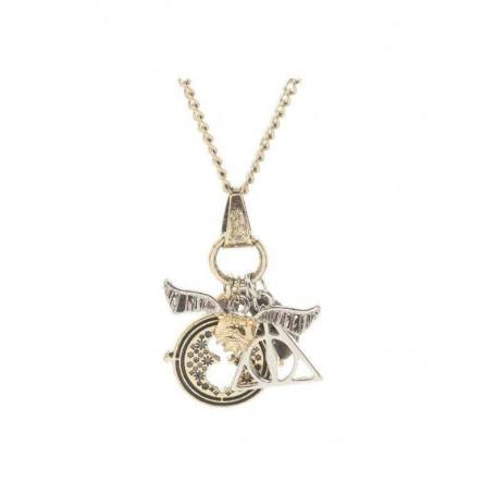 Harry Potter pendentif et collier plaqué argent Symbols