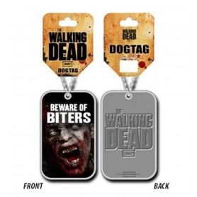 The Walking Dead : Beware of Biters - Pendentif Dog Tag