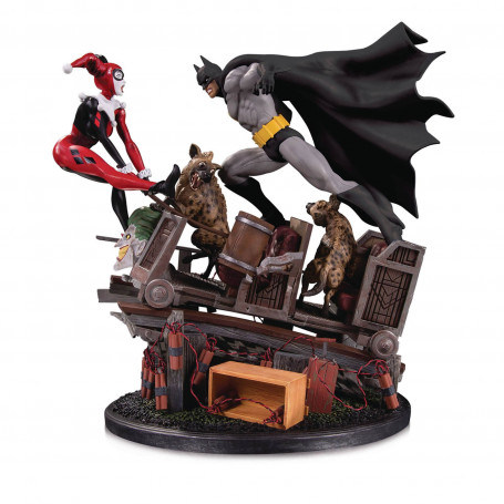 DC Comics statue 1/8 Batman VS. Harley Quinn Battle 36 cm