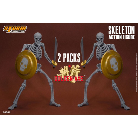 Storm Collectibles - Golden Axe - Pack 2 Skeleton 1/12