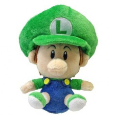 Super Mario Kart Peluche Bébé Luigi 16 cm