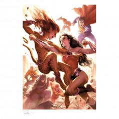 DC Comics impression - Art Print Justice League: Wonder Woman vs Cheetah by Alex Garner - 46 x 61 cm - non encadrée