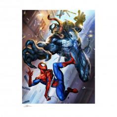 Marvel impression Art Print Spider-Man VS Venom - 46 x 61 non encadré