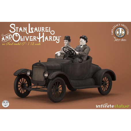 Infinite Statue LAUREL & HARDY ON MODEL T 1/12 Statue - Cars Legacy Collection