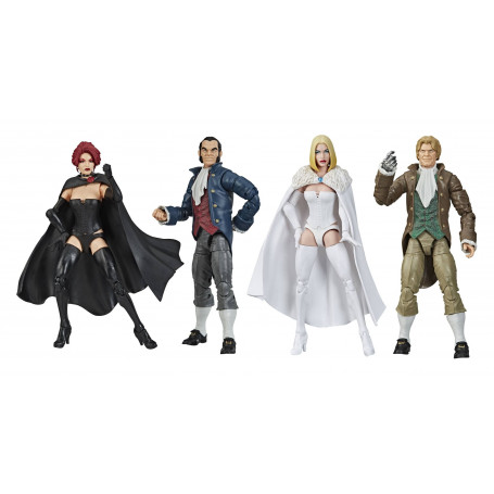 Hasbro - Marvel Legends - HELLFIRE CLUB EXCLUSIVE - PACK 4 FIGURINES
