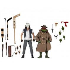 Neca - TMNT - Pack 2 figurines Casey Jones & Raphael in Disguise - Teenage Mutant Ninja Turtles - Les Tortues Ninja - The Movie