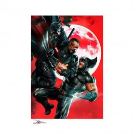 Marvel impression Art Print X-Men Wolverine vs Blade by Dave Wilkins - 46 x 61 non encadré