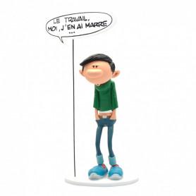 """Collectoys - Gaston Lagaffe statuette - Bulles """"Le travail, moi j'en ai marre"""""""