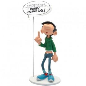 """Collectoys - Gaston Lagaffe statuette - Bulles """"J'ai une idee"""""""