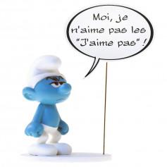 """Collectoys - Les Schtroumpfs statuette - Bulles """"Moi je n'aime pas"""""""