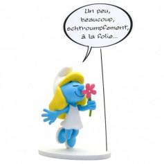 """Collectoys - Les Schtroumpfs statuette - Bulles Schtroumpfette """"Un peu, beaucoup"""""""