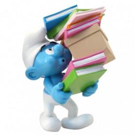 Collectoys - les schtroumpfs - Schtroumpf avec une pile de livres