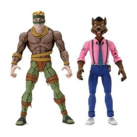 Neca - TMNT - Les Tortues Ninja - Pack 2 figurines Rat King & Vernon