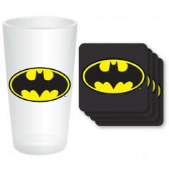 DC Comics - Batman Dark Knight - Maxi Verre et Sous-Verres
