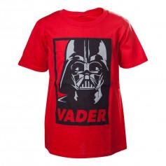 Star Wars - T-shirt enfant Rouge Dark Vador - 122/128