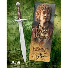 Le Hobbit set stylo à bille et marque-page à effet 3D épée de Bilbon Sacquet