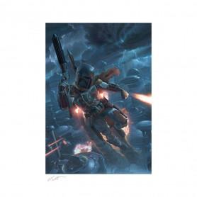 Star wars impression Art Print - The Mercenary - Boba Fett - 46 x 61 cm