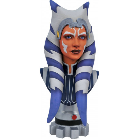 Diamond Select Toys - Ahsoka Tano LEGENDS IN 3D 1/2 Scale Bust by Gentle Giant