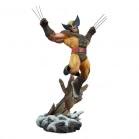 Sideshow Wolverine Brown Costume Premium Format
