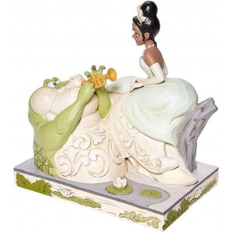 Enesco Disney Traditions - Tiana with Louie - WHITE WOODLAND