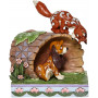 Enesco - Rox & Rouky - Fox and Hound On Log - Disney Tradition by Jim Shore