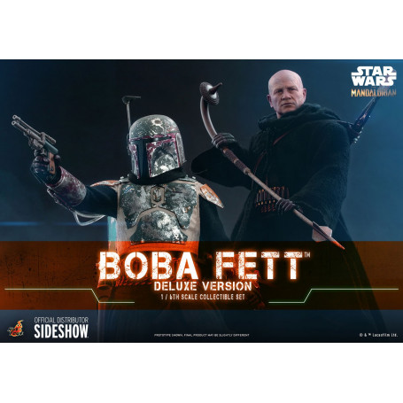 Hot Toys Star Wars The Mandalorian Boba Fett Deluxe Version 1/6 Movie Masterpiece