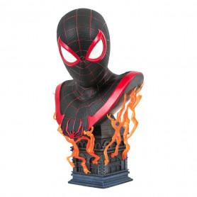 Diamond Select Toys - Gamerverse Miles Morales Bust - LEGENDS IN 3D - Marvel