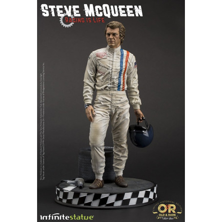 "Infinite Studio - Steve McQueen ""Racing is Life"" - Old & Rare Statue 1/6"