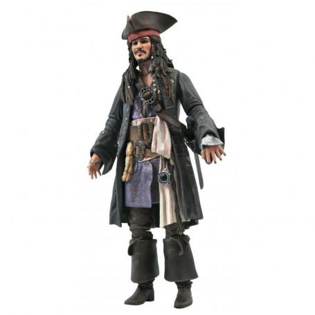 Diamond Select Toys - figurine Deluxe Jack Sparrow - Pirates des Caraïbes