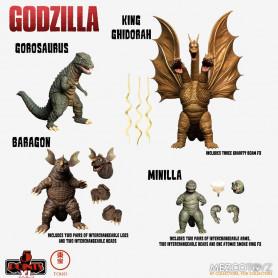 Mezco 5 Points XL Deluxe Box Set Round 2 - Godzilla : Les envahisseurs attaquent