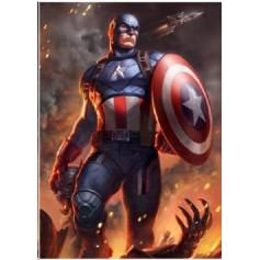 Marvel impression - Art Print Captain America - 46 x 61 cm - non encadrée