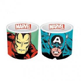 Marvel Comics - Set de 2 coquetiers céramique Iron Man & Captain America