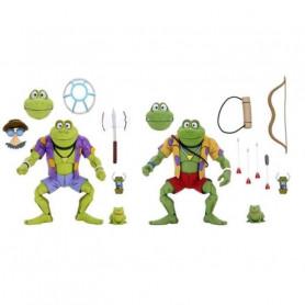 Neca - TMNT - Les Tortues Ninja - Pack 2 figurines Genghis & Rasputin Frog