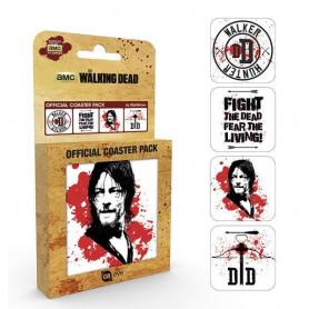 Walking Dead pack 4 sous-verres Daryl