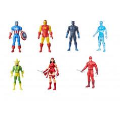 Marvel Legends RETRO - Cap America - Black Panther - Iron Man - Elektro - Elektra - Daredevil - Ice-Man - Serie de 7 figurines