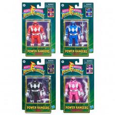 Hasbro - Mighty Morphin Power Rangers - Retro Morphin pack de 4 figurines