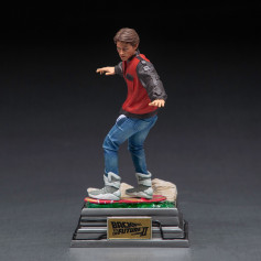 Iron Studios - BTTF 2 - Marty McFly sur Hoverboard Back to the Future Part II