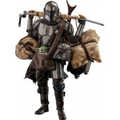 Hot Toys Star Wars The Mandalorian pack 2 figurines 1/6 The Mandalorian & Grogu Deluxe Version