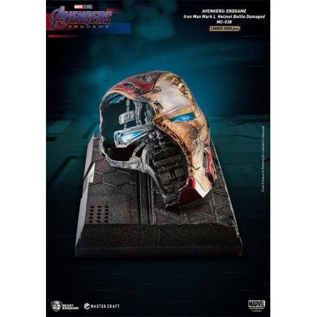 Beast Kingdom - Avengers Endgame Master Craft Iron Man Mark50 Helmet Battle Damaged