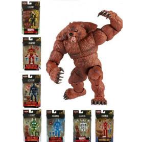 Marvel Legends - URSA MAJOR Build a figure Wave - Serie complete de 7 figurines