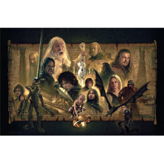 Lord of the Rings: The Two Towers Art Print - 46 x 61 cm - non encadrée