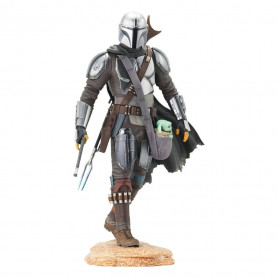 Gentle Giant Star Wars - The Mandalorian with The Child - Premier Collection Statue 1/7
