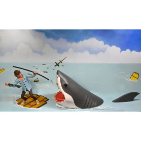Neca - Toony Terrors - Pack 2 figurines Jaws & Quint - JAWS - Les Dents de la Mer - Bruce