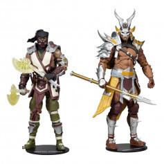 McFarlane - pack 2 figurines Sub-Zero & Shao Khan - Mortal Kombat XI